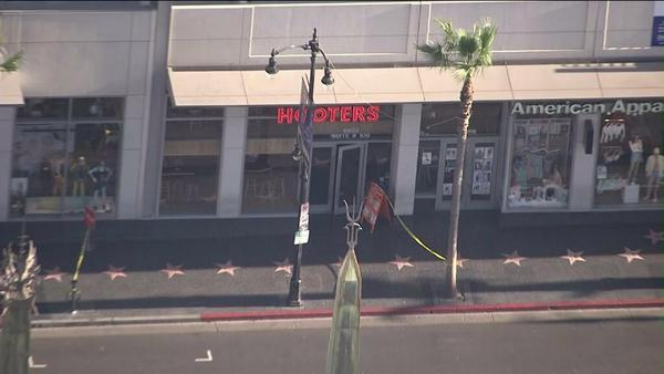 Hooters in Hollywood during bomb scare.