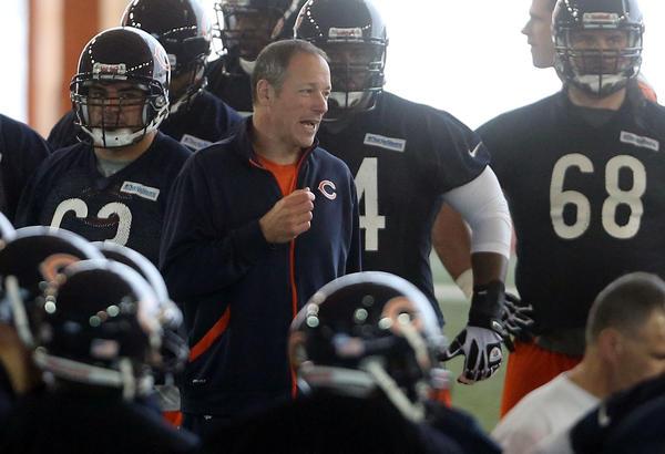 Offensive coordinator Aaron Kromer during Bears minicamp.