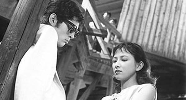 "Joe (Tatsuya Nakadai) and Shizuko (Ineko Arima) in Masaki Kobayasi's ""Black River."""