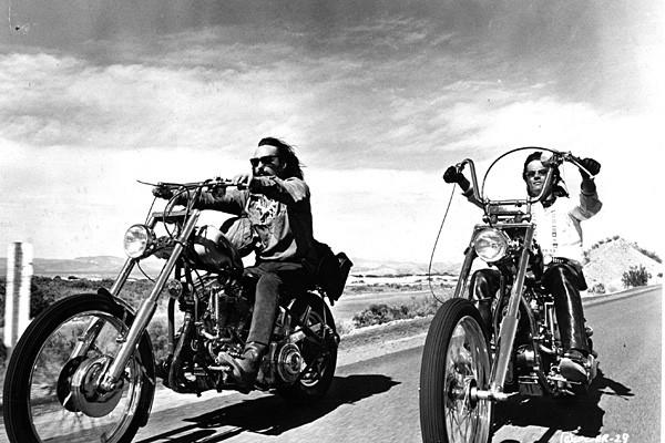 "Peter Fonda, right, and Dennis Hopper in ""Easy Rider."""
