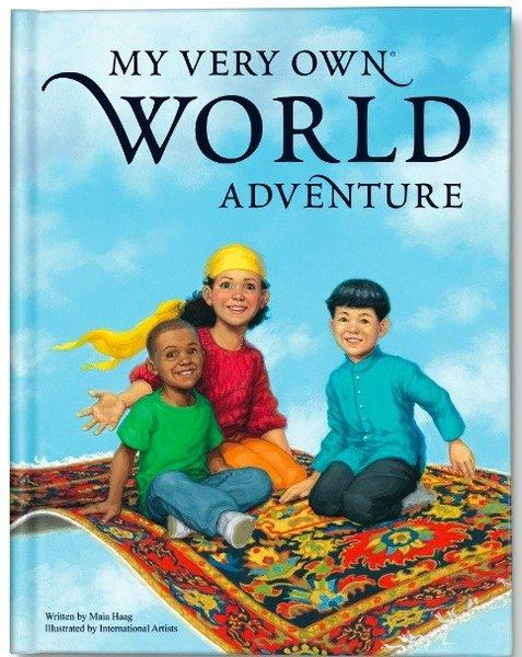 """My Very Own World Adventure"" is a personalized travel-themed book for kids."