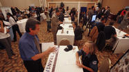 A job fair last month in Orange County.