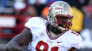 The Ravens will continue their due diligence on highly regarded Florida State pass rusher Tank Carradine on Saturday.