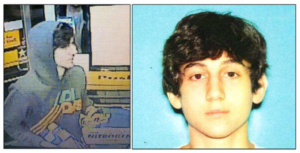 This image provided by the Boston Regional Intelligence Center shows Dzhokhar Tsarnaev, identified by the FBI as suspect No. 2 in the Boston Marathon bombings.