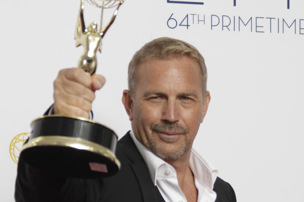 Kevin Costner during coverage of the 64th Annual Primetime Emmy Awards Show on September 23, 2012.