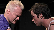 "Unfortunately for Roger Mathey's Seat of Your Pants Productions, the company behind the enthusiastically assaultive ""Trainspotting"" at the Elephant Theatre, neither the L.A. Drama Critics Circle nor the L.A. Stage Alliance offers an award for most excrement onstage. Or least decipherable Scottish brogue."