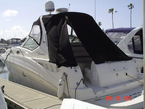 A powerboat seized by the FBI as part of its investigation into Orange County businessman David Rose