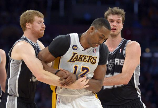 The Lakers will play the San Antonio Spurs in the first round of the playoffs, which begins Sunday.