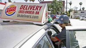 A Glendale franchise is testing a pilot Burger King delivery program.