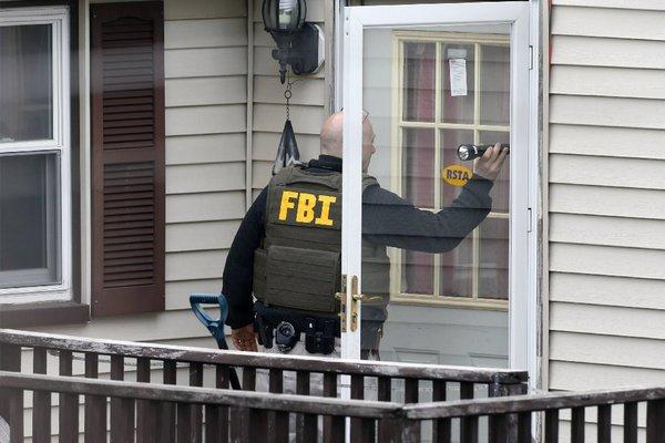 As the FBI hunts for the bombing suspect, the media is right behind them.