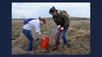 Tree planting underway again at Flight 93 memorial