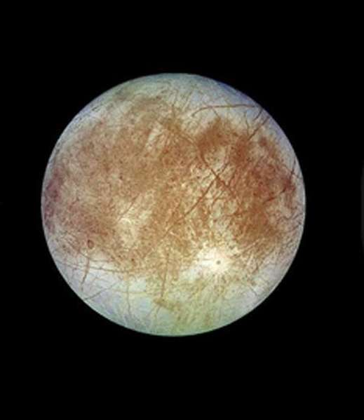 Jupiter's moon, Europa. Planetary cientists hope to explore the icy moon some day, but budget cuts could upend their efforts.