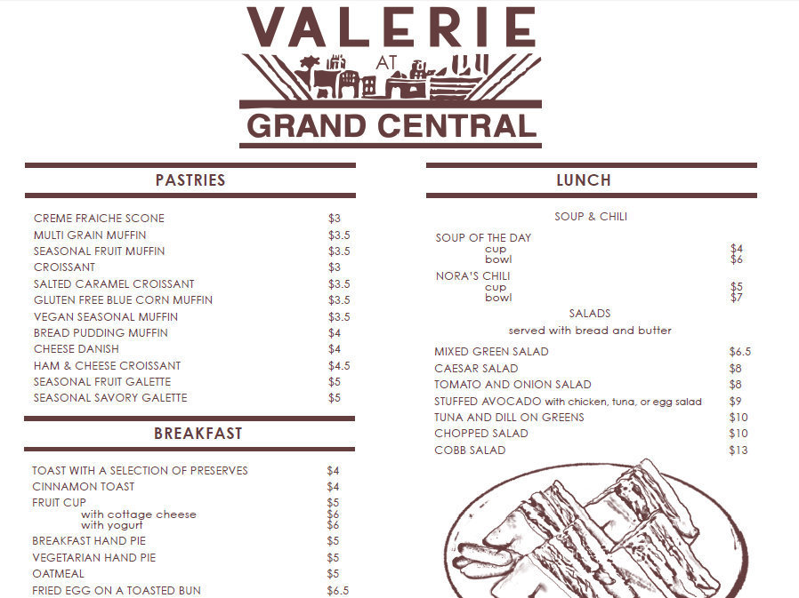 Valerie at Grand Central is expected to open next month downtown.