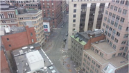 People are sharing photos of the quiet streets of Boston on Twitter today.