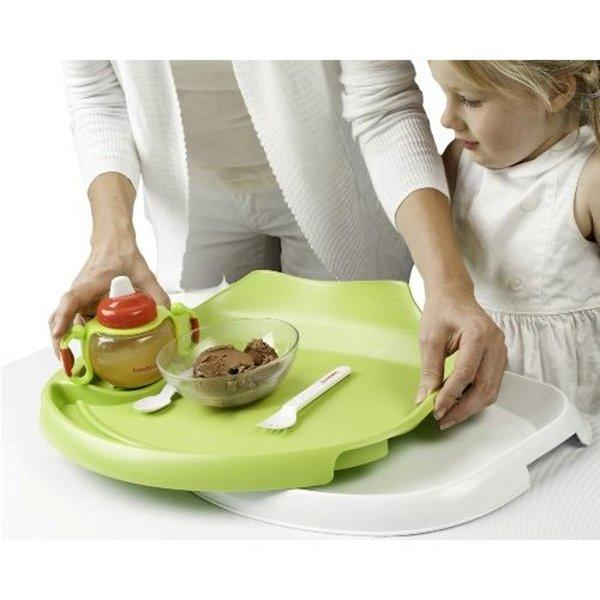 Tidy Table Tray plus Flexi-diner keeps germs away from your child and keeps snacks and meals where they should be.