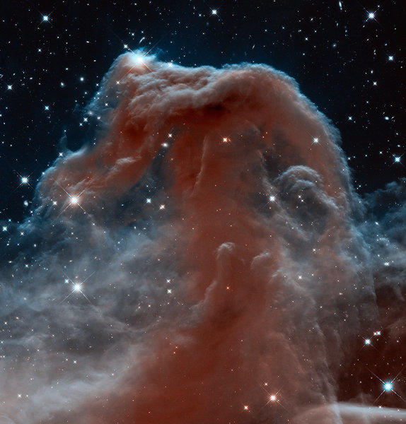 Researchers at the Hubble Space Telescope have released a new look at the Horsehead Nebula taken using infrared light.
