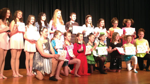 "Contestants for the fourth annual ""Waynesboro You Have Talent"" talent show are from left, front row: Allison Monn, Brittany Baker, Annie Slemmer, Kristy Barkdoll, Presley Hanosek, Lilly Eberhardt, Allison Sawicki, Kate Harbaugh and Erin Peck. Back row: Emily Horton, Megan Painter, Lindsay Frey, Kayla Bonner, Emily Johnson, Andy Barkdoll, Ellie Rush, Rena Musser, Kayla Peck and Kara Peck."