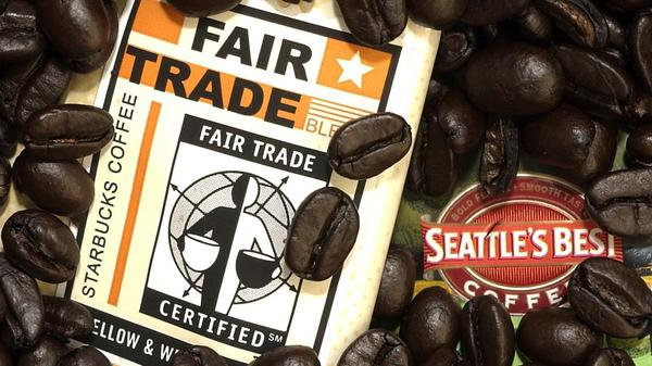 A 2002 photo illustration shows fair-trade coffee.