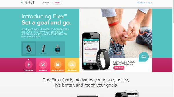 A screen grab of the Fitbit Web site.