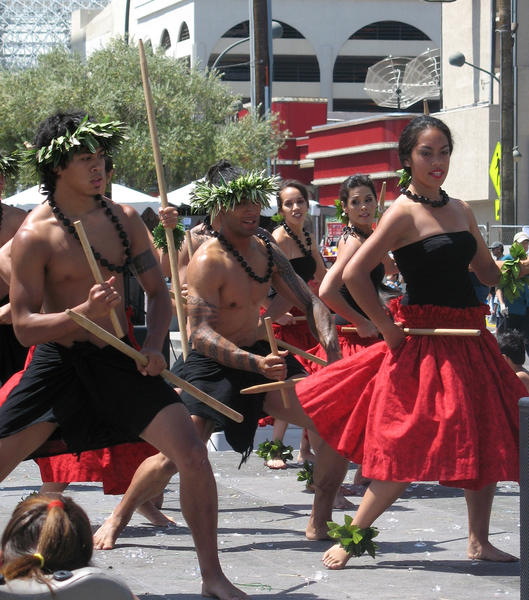 Hawaiians gather in downtown Las Vegas each May to celebrate Lei Day. It's May 1 in Hawaii but May 4 and 5 in Vegas.