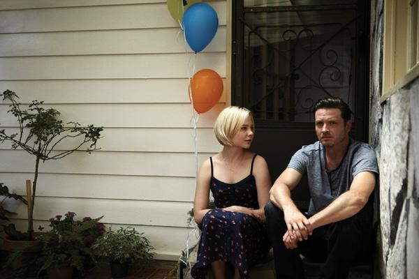"Aden Young plays Daniel Holden, a man recently released from prison after DNA evidence is used to help free him, in ""Rectify."" Adelaide Clemens plays his sister-in-law, Tawney."
