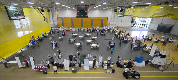The Mega Job Fair held Friday at Hagerstown Community College.