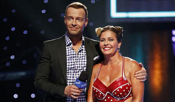 "Joey Lawrence and Nicole Eggert on ""Splash."""