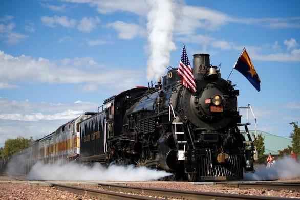 The vintage Grand Canyon Railway's steam-powered train will be fueled with recycled vegetable oil on its Earth Day run.