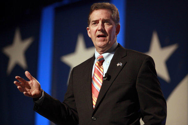 Former Sen. Jim DeMint, shown in a 2010 photo, is a leading critic of efforts to require Web-based retailers to collect sales taxes on out-of-state customers.