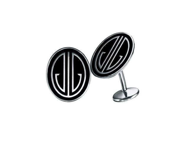 Ziegfeld monogram cufflinks of black enamel and sterling silver, from Tiffany & Co. ($350).