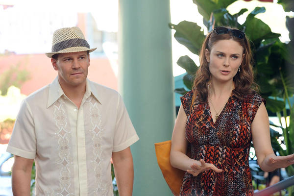 "A Viral Outbreak could erupt after a murder in a new episode of ""Bones"" on Fox. With Emily Deschanel, left, and Tamara Taylor."