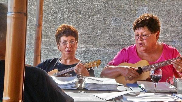 Once a week, kapuna, or elders, on Molokai gather to play traditional music.