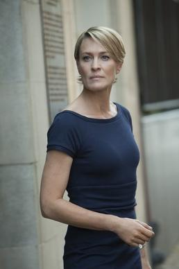"Robin Wright as Claire Underwood in ""House of Cards."""