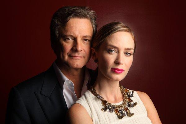 "Colin Firth, left, and Emily Blunt star in the drama ""Arthur Newman."""