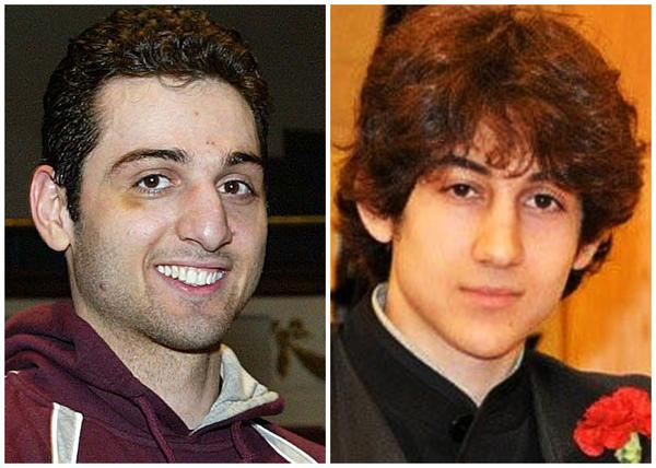 Undated photos show Tamerlan Tsarnaev, 26, left, and Dzhokhar Tsarnaev, 19.