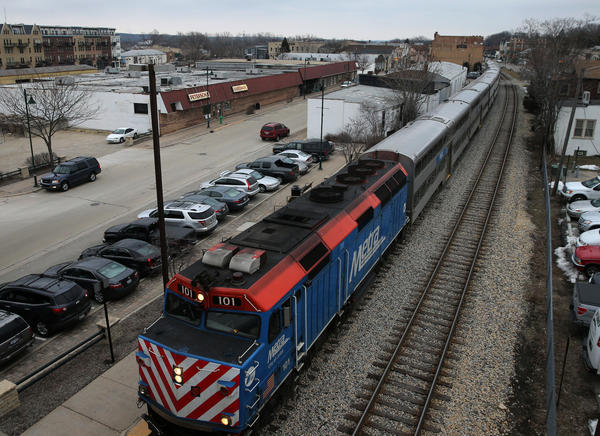 A Metra train from Chicago arrives in Lemont on Thursday, March 14, 2013 on its way along the Heritage Corridor to Joliet