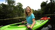 LONGWOOD — Tired from paddling her kayak on the St. Johns River, the Alligator Princess set up camp in a clearing near Cape Canaveral.
