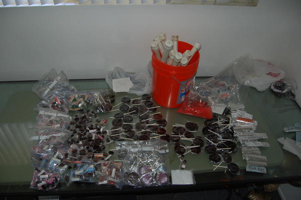 Marijuana laced candy seized by LA sheriff's deputies.