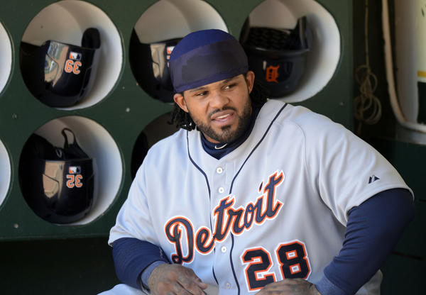 Detroit Tigers first baseman Prince Fielder fanned five times in a recent game.