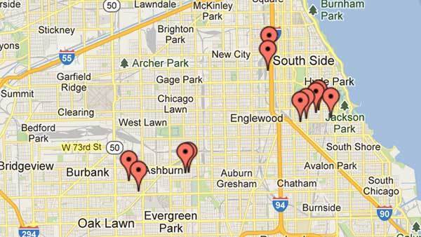 Series of robberies in April on South and Southwest Sides.