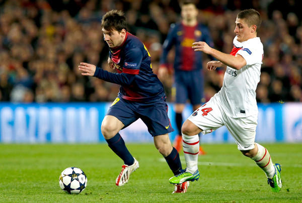 Lionel Messi helped FC Barcelona advance past Marco Verratti and Paris Saint-Germain in the Champions League quarterfinals.