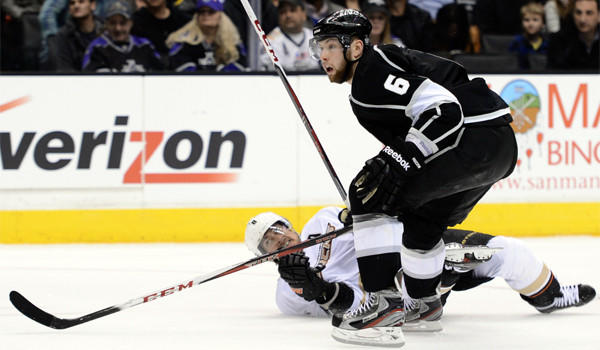 Kings rookie Jake Muzzin has three power-play goals and seven power-play points.
