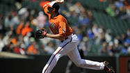 Members of the Orioles starting rotation have had their struggles getting deep into games, but right-hander Jason Hammel gave the team a gritty six-inning effort against the Dodgers in Game 1 of Saturday's doubleheader.