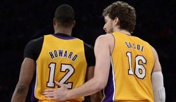 Dwight Howard, left, and Pau Gasol have had their ups and downs this season, but they will have to be in top form for the Lakers to go anywhere in the postseason.