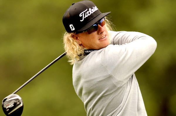 Charley Hoffman follows through on his drive at No. 3 during the third round of the RBC Heritage golf tournament Saturday.