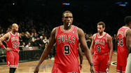 NEW YORK — Luol Deng slumped down at his locker with ice bags on both knees, his arms crossed behind his head and a look of exasperation on his face.