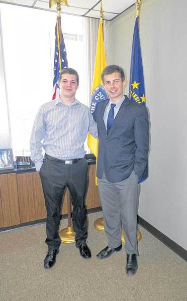 Student Government president Michael Staszewski completed his second semester as an intern in South Bend Mayor Pete Buttigiegs office.