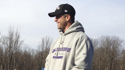 Ravens coach John Harbaugh competes in Tough Mudder race