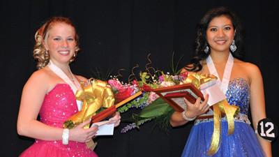 Alixandra Collins of Somerset Area High School and Karlene Koh of Bishop McCort Catholic High School.