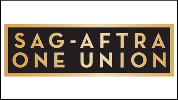 Logo for SAG-AFTRA, whose board on Sunday approved a plan to cut 60 jobs from the union.